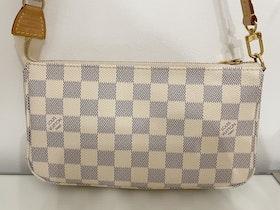LV Pochette Accessoires Azur Canvas Bag