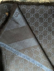 New Gucci Scarf Shawl GG Guccissima silk wool