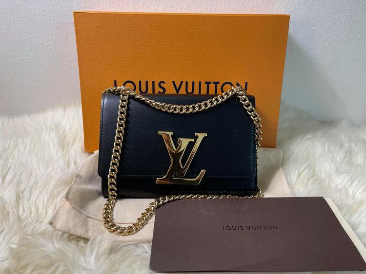 Louis Vuitton Chain MM Black Leather Noire M41279