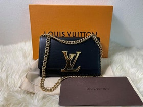 Louis Vuitton Chain MM Black Leather Noire M41279