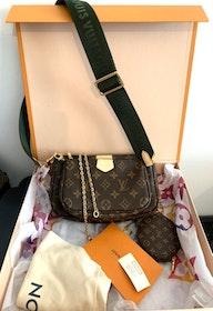 Louis Vuitton Multi Pochette Accessoires Kaki Bag