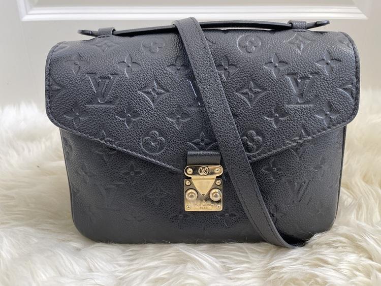 Louis Vuitton Pochette Metis Black Empreinte Leather