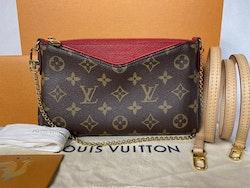 Louis Vuitton Pallas Clutch Cerise Monogram Canvas