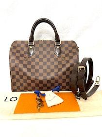 Louis Vuitton Speedy Bandouliere 30 Damier Ebene Bag