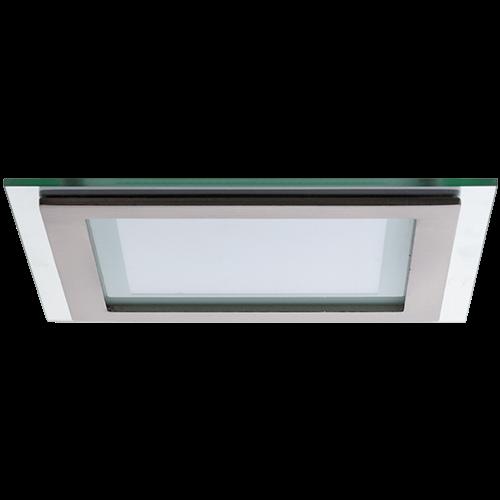 AB Arlemark Fyrkantig 12W LED panel med glasram från Lamptime i aluminium
