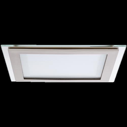 AB Arlemark Fyrkantig 16W LED panel med glasram från Lamptime i aluminium