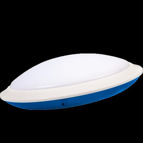AB Arlemark takarmatur med sensor från Lamptime för korridorer och trappuppgångar med blå aura