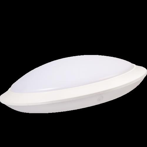 AB Arlemark takarmatur med sensor från Lamptime för korridorer och trappuppgångar med vitt chassi