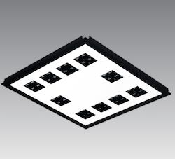 Lamptime LED infälld, prismatisk ljus 40W 600 x 600, Standard (5st)