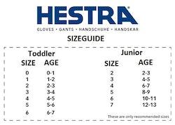 Hestra Army Leather Heli Ski Jr.