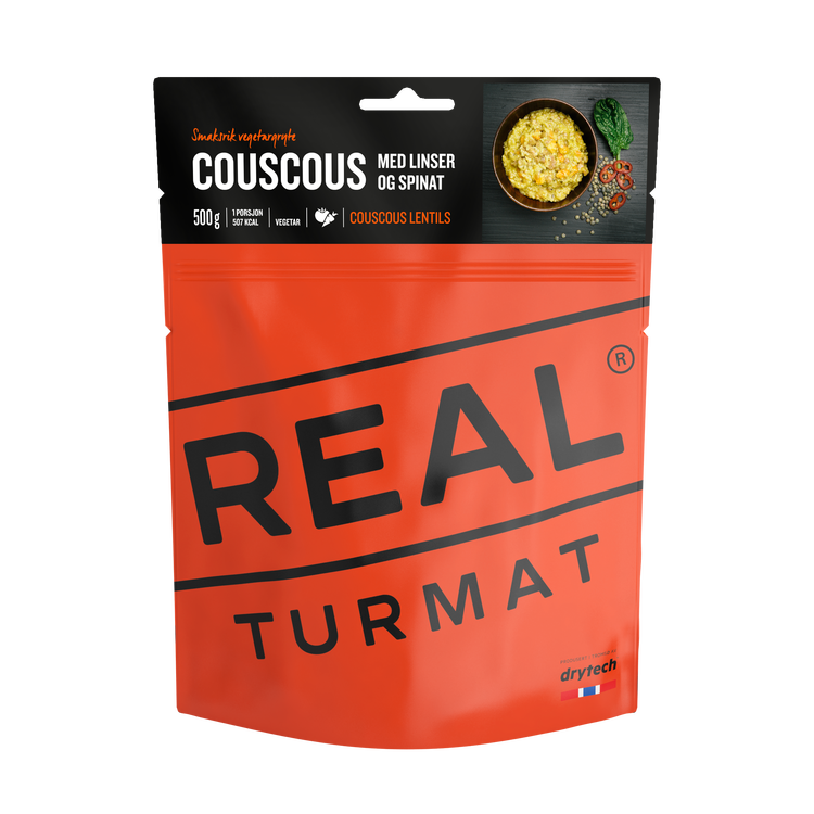 REAL Turmat Couscous with Lentils and Spinach