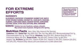Spring Energy SPEEDNUT WITH CAFFEINE (Vegan) - Extreme Efforts - 250 Kcal