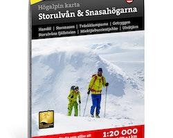 Calazo Högalpin karta Storulvån & Snasahögarna 1:20.000