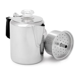 GSI Outdoors Glacier Stainless Coffee Percolator with Silicone Handle