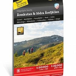 Calazo Högalpin karta: Åreskutan & södra Årefjällen 1:20.000