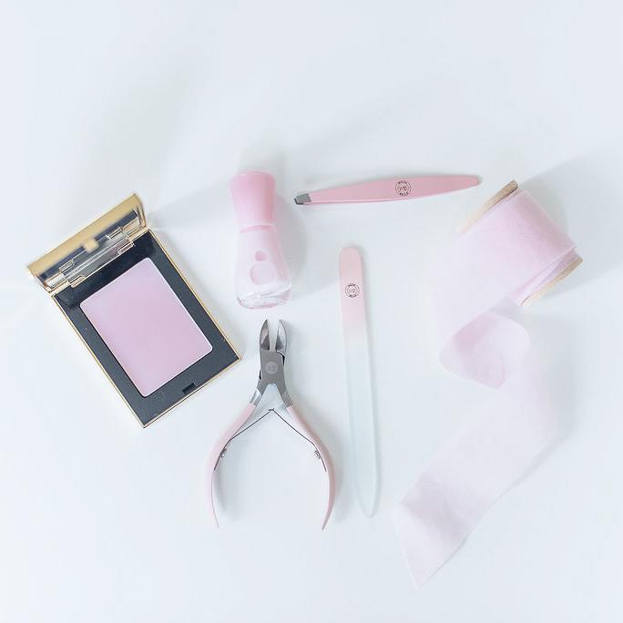 Ljusrosa Glasnagelfil Giftbox - Malva Belle