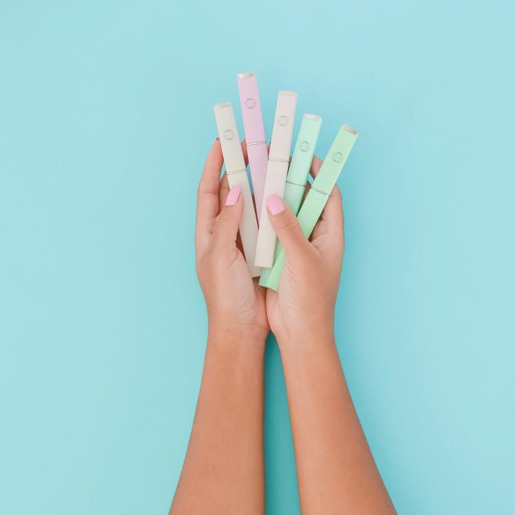 Pastellgrön Glasnagelfil - Malva Belle