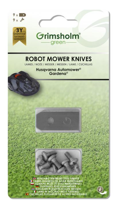 Knivar till Automower, Gardena m.fl, 9-pack