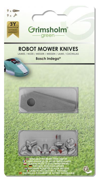 Knivar till Bosch Indego, 9-pack