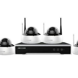 Hikvision Wifi kameraövervakning paket med högupplösta kameror