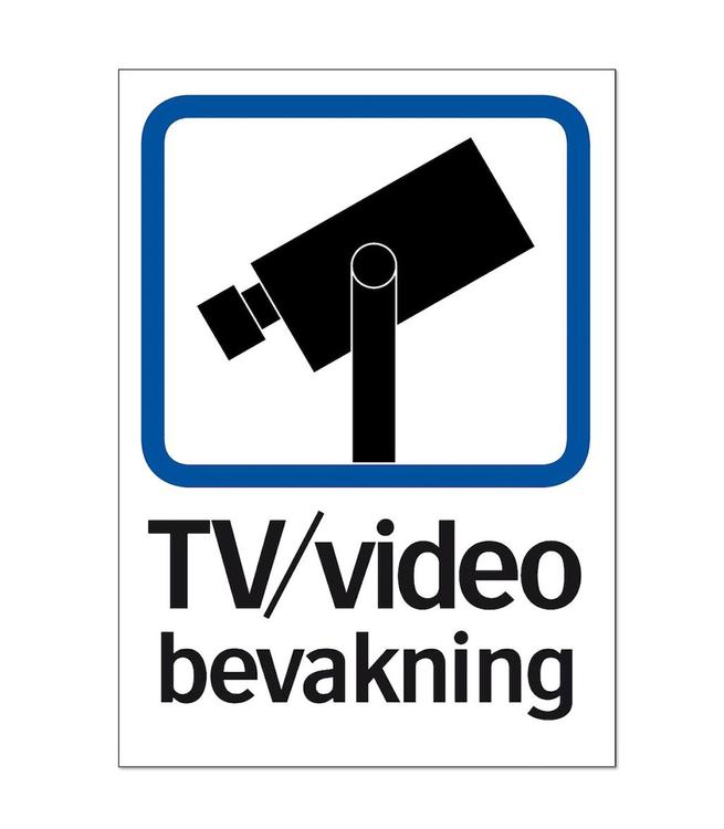 Skylt kamerabevakning