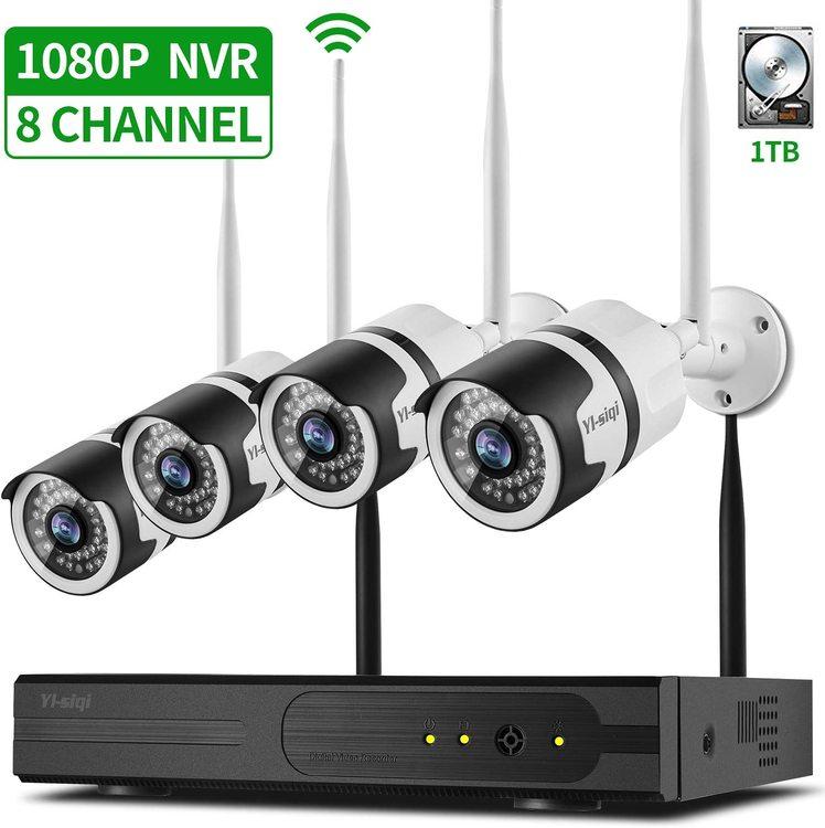 Wifi Kamerakit med 4st kameror (Möjlighet att ansluta 8st kameror)