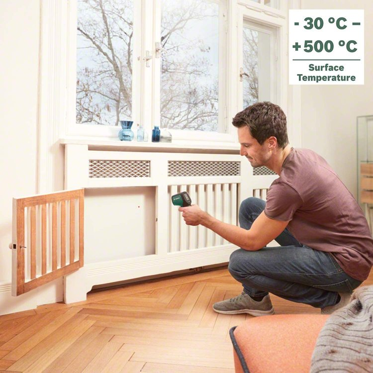 Bosch Infrared Thermometer UniversalTemp (Temperature Range: -30°C to +500°C