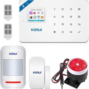 KERUI Wireless Home Security APP Automatic Dial Sensor Burglar Alarm Kit2