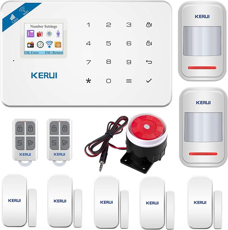 KERUI Wireless Home Security APP Automatic Dial Sensor Burglar Alarm Kit3