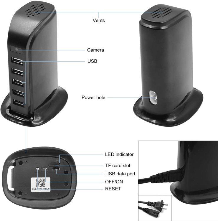 WIFI IP Dold Kamera i USB Laddstation