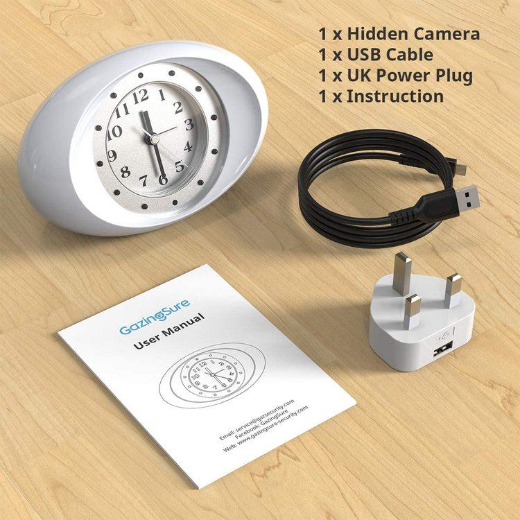 WIFI IP Dold Kamera i Form Av Analog Klocka