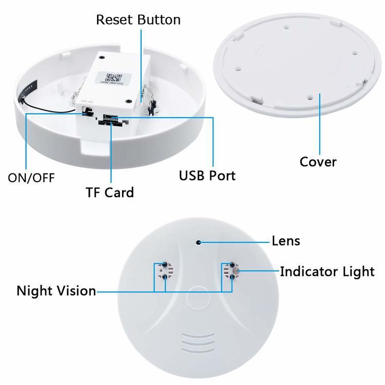 WIFI IP Dold Kamera i form av rökdetektor