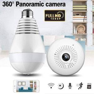 WIFI IP Kamera i i LED-lampa 360-graders FullHD 1080P