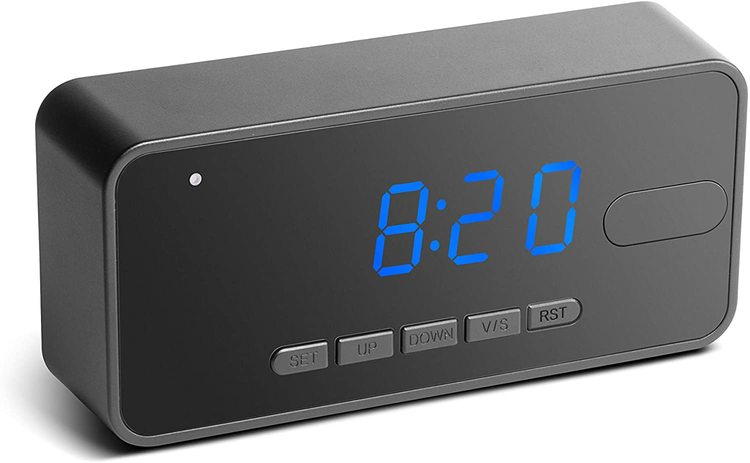 Dold Kamera i Väckarklocka med PIR Sensor & Full HD upplösning
