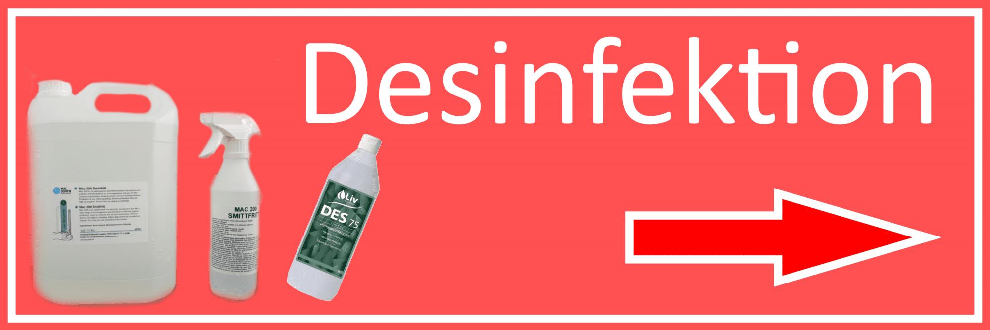 Desinfektion - Mackans Garage