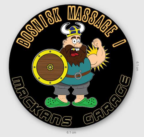 V05 runt samlarmärke Bosnisk massage