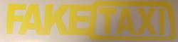 Faketaxi dekal gul - 2 olika storlekar