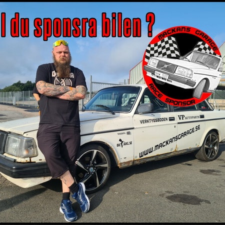 RACE SPONSOR rund dekal!  500kr