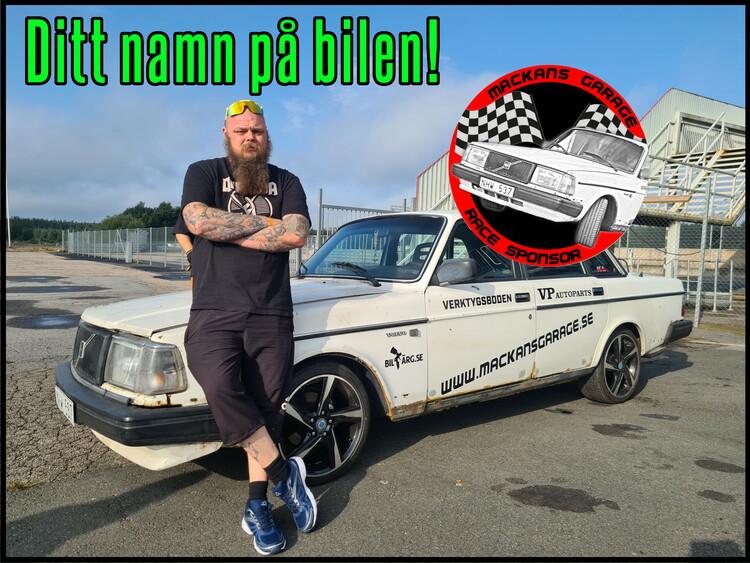 Ditt namn på bilen! + race sponsor dekal - 1000kr
