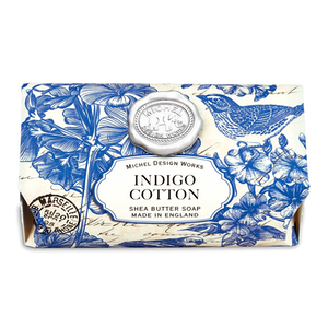 Indigo Cotton Large Bath Soap Bar