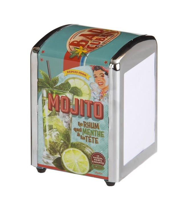 Servetthållare med mojito-motiv.