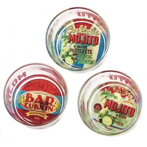 """Glasskålar """"Mojito"""" 3-pack"""