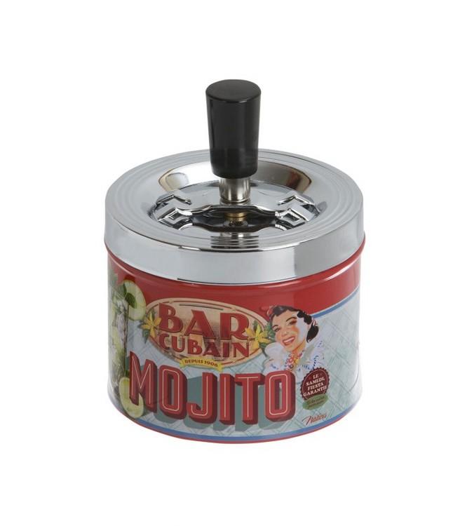 Tryckaskkopp rund i plåt mojito.