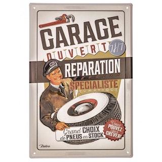 """Plåtskylt 20x30cm """"Garage"""""""