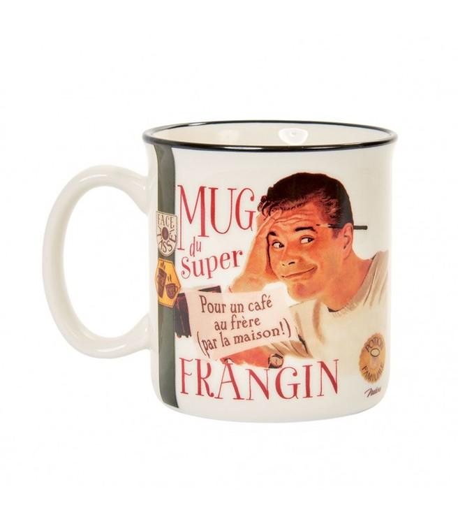 Kaffemugg retro med en man på.