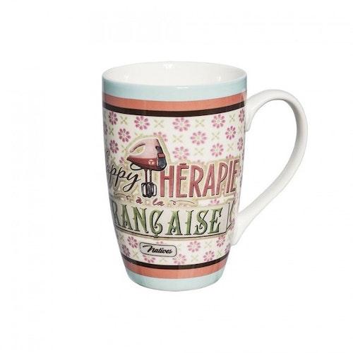 "Kaffemugg Stor ""Happy Therapie"""