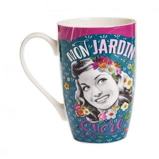 "Kaffemugg Stor ""Mon Jardin"""