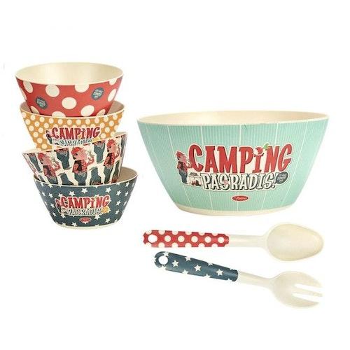 "Paket i Bambu i 7 delar ""Camping"""