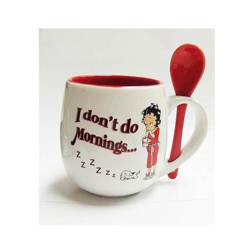 "Kaffemugg med sked ""Betty Boop"""