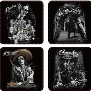 "Glasunderlägg 4-pack ""Western"""